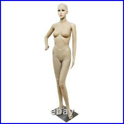 176 CM Female Mannequin Plastic Realistic Display Head Turns Dress Form with Base