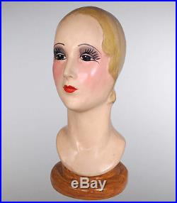 1920s Hand Painted Mannequin Head Display Katherines Collection 28-28332