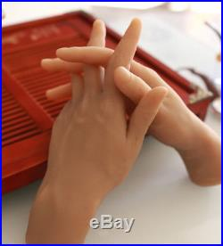 1 Pair Lifesize Men Hands Soft Silicone Hand Mannequin Male Model Glove Display