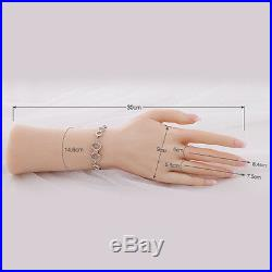 1 Pair Soft Silicone Lifesize Female Hand Fingers Mannequin Display Left Right