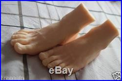 1 Pair silicone Lifesize male mannequin leg foot display shoes and socks size 39