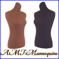 2 nylon covers to renew female torsos, size S M, 2 nylon Jerseys-BRN+BK