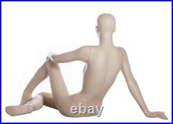 34 in H Reclined Seated Female Mannequin Skintone Face Make up Torso Form SFW29F