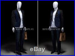 37 27 37 Male Unbreakable Egghead Plastic Mannequin Head Turms SM1WEG
