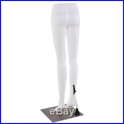 41 Female Half Body Legs Mannequin Plastic Pants Form Display with Metal Base New
