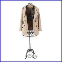 57 VINTAGE Metal Wire Dress Form MANNEQUIN Dressmaker Display Rack Stand BLACK