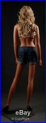 5' 10 Tall, Fiberglass Female Mannequin Realistic + Wig 322534 (LEM3)