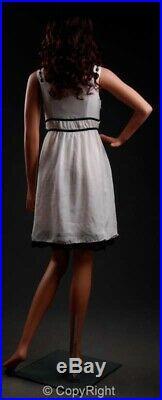 5' 10 Tall, Fiberglass Female Mannequin Realistic + Wig 322534 (LEM6)