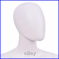 5.8' FT Female Mannequin Egghead No Face Full Size Body Display Base Metal Stand