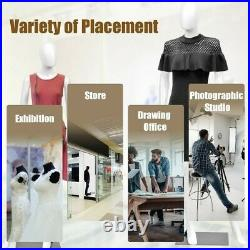 5.8 ft Full Body Female Mannequin Egghead Manikin with Metal Stand US