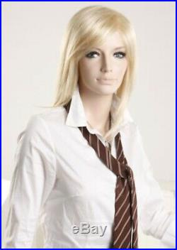 5' 9 Tall, Fiberglass Female Mannequin Realistic + Wig 332434 (EVA3)