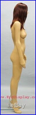 5 ft 10 in Female Fullsize Mannequin Skintone Face Make up Blonde Wig SFS-83FT