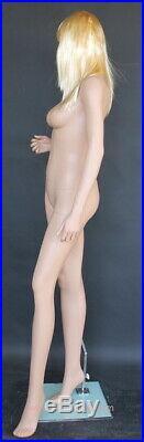 5 ft 10 in Female Fullsize Mannequin Skintone Face Make up Torso Form SFL-613FT