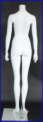 5 ft 3 in H Size Small Female Headless Mannequin Matte White New Style STW120WT
