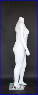 5 ft 5 in H PLUS SIZE Female Headless Mannequin Matte White New Style PLUS-1