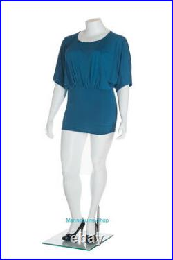 5 ft 5 in H PLUS SIZE Female Headless Mannequin Matte White New Style PLUS-2