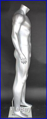 5 ft 9 in H Male Athletic Mannequin Muscular Body Shape Matte Silver STM052S NEW