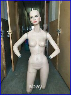 60's Vintage Decter Orig Makeup Lashes Female Mannequin 3/4 with Stand Mod 70's