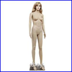 68.90 Female Mannequin Plastic Display Full Body Head Turns Dress Form with Base