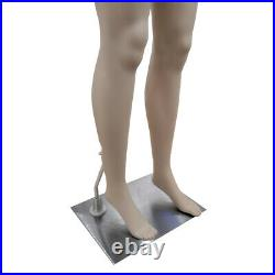 69 Female Mannequin Full Body PP Realistic Display Head Turns Dress Form + Base