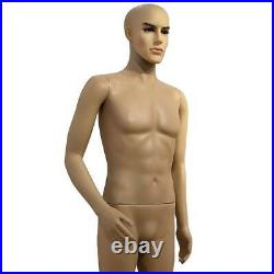 6FT Male Mannequin Make-up Manikin /w Stand Plastic Full Body Realistic US SHIP