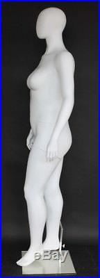 6 ft 1 in PLUS SIZE Female Mannequin Abstract Head Matte White New Style PLUS-11
