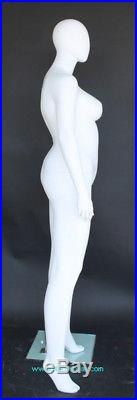6 ft 1 in PLUS SIZE Female Mannequin Abstract Head Matte White New Style PLUS-44