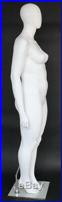 6 ft 1 in PLUS SIZE Female Mannequin Abstract Head Matte White New Style PLUS-55