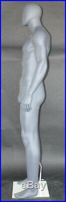 6 ft 4 in H Male Abstract Head MannequinMuscular Body Grey Color SFM52E-GR