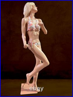 ALMAX Vintage Realistic Full Female Mannequin Life Size Running Dancing Action
