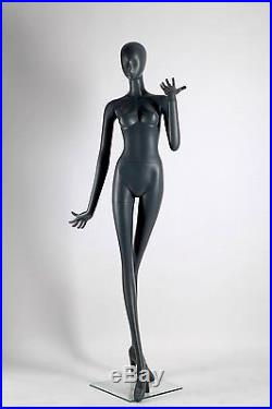 Abstract Female Mannequin, Matte Grey, Angel Style, Made of Fiberglass (ados3)