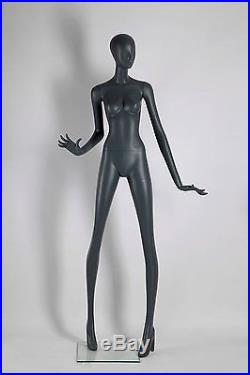 Abstract Female Mannequin, Matte Grey, Angel Style, Made of Fiberglass (ados5)