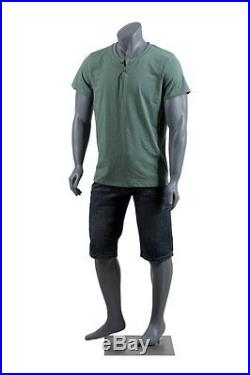 Abstract Male Mannequin, Headless Style, Matte Grey, Made of Fiberglass NIKE1