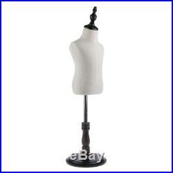 Adjustable Kids Mannequin Torso Dress Form Display Body with Tripod Stand L