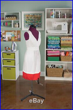 Adjustable Mannequin Dress Form Female With New Base Red