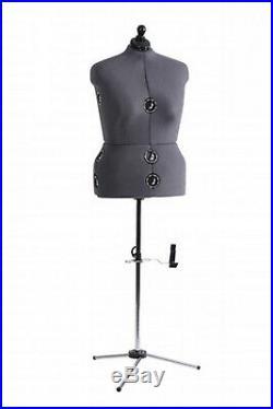 Adjustable Mannequin Dress Form Full Figure Female Plus Size Torso Tailor Sewing