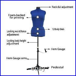 Adjustable Mannequin Dress Form Plus Size Torso Female Tailor Sewing Seamstress