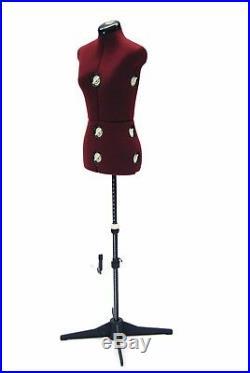 Adult Female Adjustable Dress Form Sewing Fabric Mannequin Torso Large