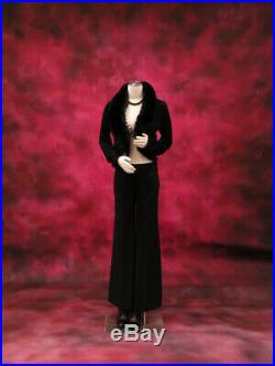 Adult Female Flexible and Pinnable Mannequin 3/4 Torso Dress Form with Base