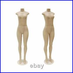 Adult Female Plastic Fleshtone Headless Brazilian Mannequin with Base
