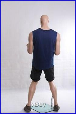 Adult Male Realistic Sports Mannequin in a Celebration Victory Winning Pose