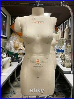 Alva Form by Alvanon Half Body Dress Form, Sz 6, Women, 2008 avf18449