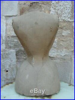 Ancien mannequin napoleon III taille de guepe Antique wasp waist dress form