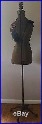 Antique 1800s Dress Form Primitive Steampunk Sewing Mannequin ACME FORM