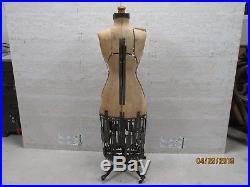 Antique 1906 Hallborcher- Victorian Age-full Cage Rolling Dress Form Mannequin