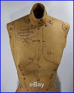 Antique Adjust-O-Matic Mannequin Dress Form Model Vintage 1960's