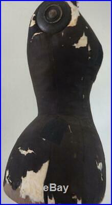 Antique Edwardian Mannequin Dressform by Stockman of Paris on Original Stand