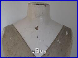 Antique French Mannequin Dress Form for Mens Shirts etc