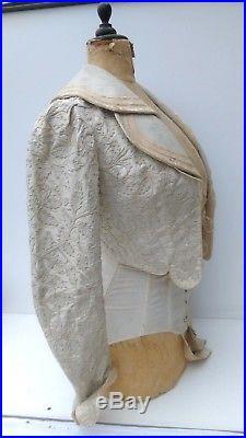 antique french mannequin wasp waist dressform with antique