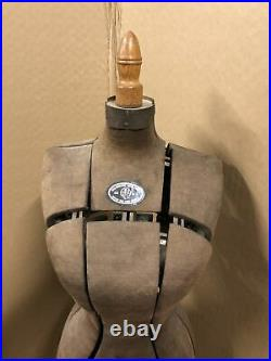 Antique Hall-Borchert Chicago Dress Form Victorian Adjustable Cast Iron Base